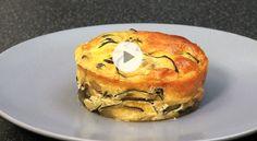 Flan de courgettes à l'oseille (Vidéo)