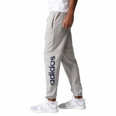 f571a8e5bf5f Men's ADIDAS Essentials Linear Tapered French Terry Pants Sweatpants 2XL  Gray #adidas #Pants