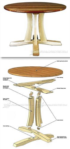 Round Pedestal Table Plans - Furniture Plans and Projects Easy Wood Projects, Furniture Projects, Custom Furniture, Table Furniture, Furniture Making, Furniture Design, Woodworking Furniture Plans, Woodworking Projects, Creation Deco