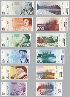 from waken, one of my new favorite blogs: a look at the swedish banknote redesign.