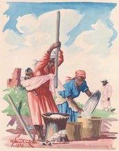 Gilbert RAKOTO (XIX-XX) - madagascar - pilage du mil