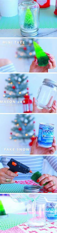 Snow Globe | 20 DIY Christmas Bedroom Decor Ideas for Teen Girls