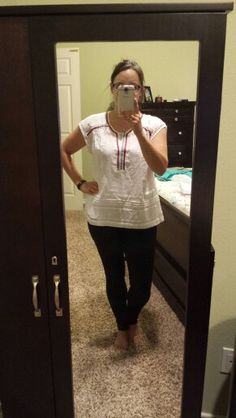 Stitchfix #7.  Hyler embroidery detail top (PL)..super soft..wanted to love but to boxy...returned