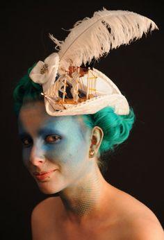 Marie Antoinette inspired tricorn by betsy Hatter millinery. Picture: Denise Bradley