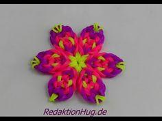 ▶ Loom Bands ohne Rainbow Loom Blume Anleitung Deutsch O - YouTube
