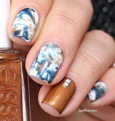 Marble designs are a perfect way of revamping your classic nail routine. We have got some great designs for you to try! Check these water marble nails designs! Nail Art Designs, Marble Nail Designs, Water Marble Nails, Marble Nail Art, Essie, Cute Nails, Pretty Nails, Saran Wrap Nails, Bandana Nails