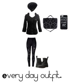 """""""Untitled #49"""" by keannalovesandyblack ❤ liked on Polyvore featuring Dr. Martens and Coal"""