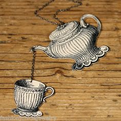 Victorian Teapot and Teacup Necklace