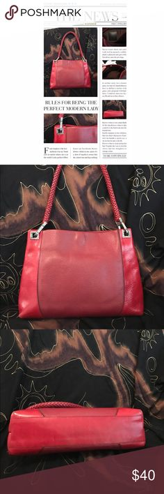 "Brighton Classic Red Pebbled Leather Handbag 💎 I'm offering a Gem of a Brighton Red Pebbled Leather Handbag, Purse with Silver Hardware, in great condition with normal wear.  This bag has excellent craftsmanship, very well made, will last forever.  Only has little wear on bottom corners and normal hardware patina.  An awesome Red bag addition.  It measures  13""x10""x3"" deep.  Please feel free to message me with any questions Bags Satchels"