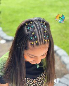 Softball Hairstyles, Flower Girl Hairstyles, Little Girl Hairstyles, Hairstyles For School, Short Hairstyles For Women, Down Hairstyles, Easy Hairstyles, Twist Ponytail, Simple Ponytails