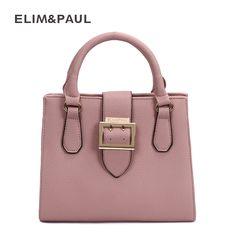 f3616d407e99 ELIM amp PAUL Messenger Bag Women s Shoulder Bag Top-Handle Fashion PU  Leather Box Women