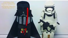 How to Make Star Wars Toilet Paper Roll Craft Figures! Darth Vader ...