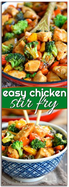 This easy Chicken Stir Fry recipe is loaded with fresh veggies and the most del., easy Chicken Stir Fry recipe is loaded with fresh veggies and the most delicious sauce made with honey, soy sauce, and toasted sesame oil! Easy Dinner Recipes, Easy Meals, Quick Family Recipes, Quick Easy Lunch Ideas, Easy Meal Ideas, Quick And Easy Recipes, Easy Asian Recipes, Easy Family Meals, Entree Recipes