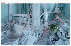 Stina Rapp Wastenson in Spring Summer 2013 campaign images of Red Valentino - photographed by Tim Walker