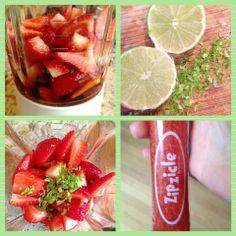 strawberry daiquiri ice blocks