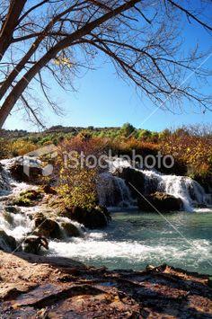Spanish destination: Lagunas de Ruidera Royalty Free Stock Photo