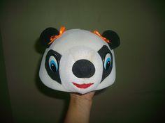 Chapéu de urso panda