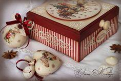 """Купить Набор ёлочных игрушек в шкатулке """" Рождественская сказка  """" - ярко-красный"""
