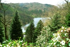 Rydal Water from the summerhouse at Rydal Mount.