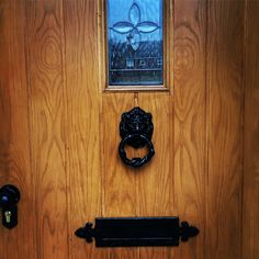 Travis Perkins Door, Ronseal Medium Oak Varnish and Homebase Door Furniture Wood Varnish Colours, How To Varnish Wood, Hallway Paint Colors, Victorian Door, Taking Shape, Door Furniture, Rose Cottage, First Home, Doors