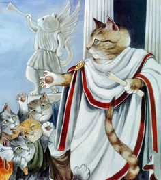 Julius Caesar from Susan Herbert's Shakespeare Cats