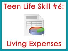 Teen Life Skills #6 is all about living expenses. Does your teen know exactly how much it costs to live in certain places?