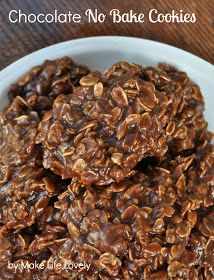Make Life Lovely: Chocolate No Bake Cookies