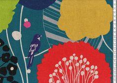 Echino: Wildflower petrol von Himbeerfell auf DaWanda.com