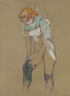 Femme qui tire son bas, 1894 (Foto: © Collection musée Toulouse-Lautrec, Albi, Tarn, France)
