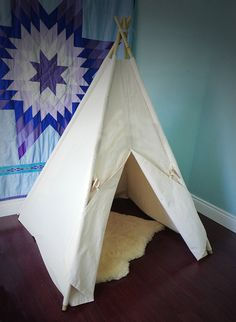 Canvas Teepee Tent poles NOT included cover by TheCuckooClocks