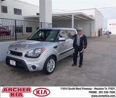 Congratulations to George A Myers Jr. on the 2013 Kia Soul