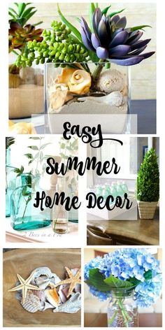 easy summer home decor use items from around your house or found in nature