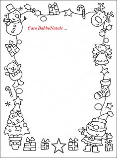 Letter to Santa Coloring Pages. 20 Letter to Santa Coloring Pages. Free Printable Christmas Coloring Pages with Jokes Preschool Christmas, Noel Christmas, Christmas Activities, Christmas Printables, Christmas Colors, Winter Christmas, Christmas List Template, Father Christmas Letters, Christmas Border