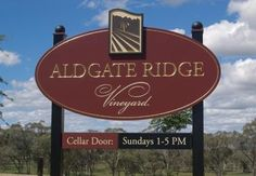 Aldgate Ridge Winery Sign / Danthonia Designs