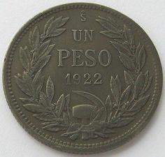 Чили, Серебряная монета 1 песо 1922, топ, высокого класса! in Монеты и банкноты, Монеты: страны мира, Южная Америка   eBay