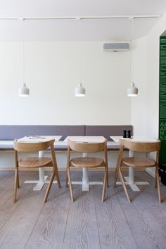 Aaman's | Copenhagen. .... plank douglas fir floors, Aalto pendant lights, and Tom Dixon chairs.