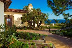 Terranea EcoResort - beautiful coastal setting with delicious food (edible garden in the photo)