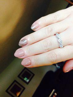 Did my own nails w shellac and nail art