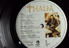 "Thalia Debut Mexican LP 12 "" Autographed by Thalia Melody 1990 