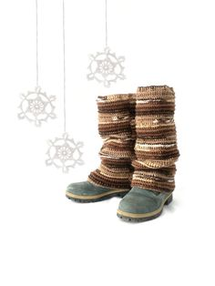 Pippi's Earthy Crochet High Leg Warmers by pippisLongstockings, $44.00
