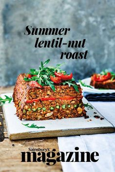 Try our gluten and dairy-free lentil nut-roast this summer. It's infused with a range of summery vegetables, seasonings and a blend of Tamari soy sauce Roast Recipes, Dinner Recipes, Wellington Food, Sainsburys, Easy Family Meals, Soup And Salad, Soy Sauce, Pasta Dishes, Lentils