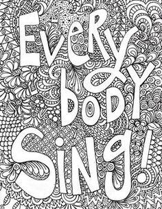 Free poster for the music room that students can color. Use on bulletin boards, wall art, or color for music listening time.