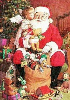 Help from a Christmas Angel Christmas Tree Scent, Cozy Christmas, Christmas Music, Christmas Images, Santa Christmas, Christmas Holidays, Vintage Greeting Cards, Vintage Christmas Cards, Santas Vintage