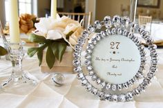 stunning wedding table number idea http://thingsfestive.blogspot.com/2012/09/real-diy-wedding-in-tampa-fl-mandy.html