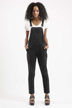 Photo 2 sur Salopette en jean noir MOTO Petite