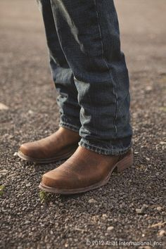 Ariat Men's Rambler Brown Bomber Square Toe Boot 10002317 is part of Clothes Mens Boots - 2 Country Heel Over Boots, Pull On Boots, Men's Boots, Ariat Mens Boots, Cowboy Boots, Dress Boots, Western Boots, Rugged Style, Mens Boots Fashion