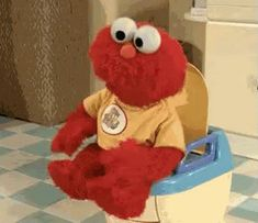 The perfect Elmo Poop Toilet Animated GIF for your conversation. Discover and Share the best GIFs on Tenor. Elmo Potty, Mundo Gif, Elmo Memes, Les Muppets, Baby Elmo, Vietnam Voyage, Expectation Vs Reality, Bathroom Humor, Images Gif