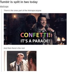 Confetti it's a parade! I LOVED THAT BLOOPER I LAUGHED FOR LIKE THREE WEEKS ABOUT IT