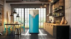 ** RETRO VW FRIDGE ** Taking the iconic design from one of the world's most recognizable motor vehicles, the Retro VW Fridge ($TBA) draws the eye towards a usually unremark...