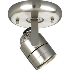 """View the Progress Lighting P6146WB Directional Series 5"""" Single-Light Fully Adjustable MR-16 Pinhole-Back Wall or Ceiling Fixture at LightingDirect.com."""
